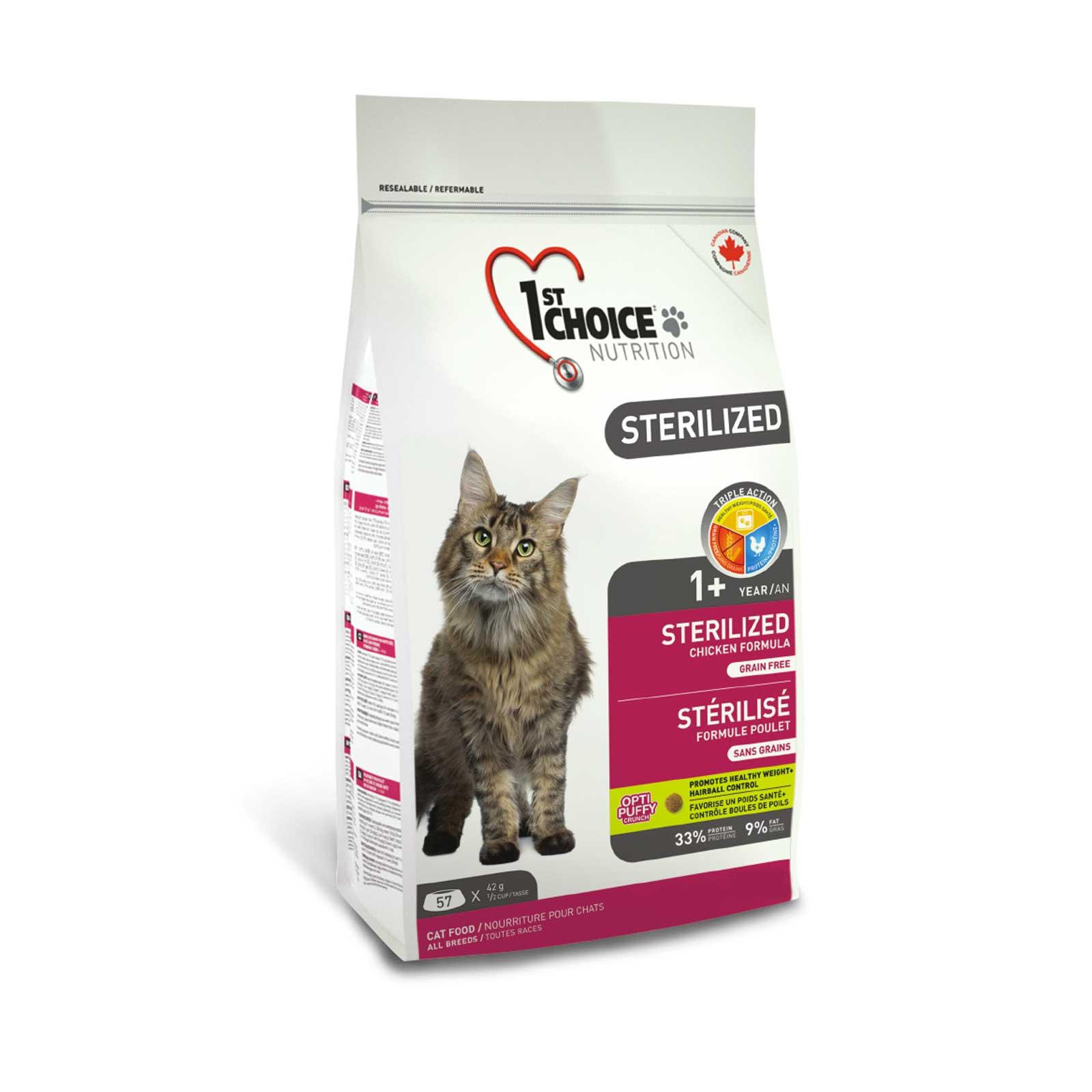 1st Choice Cat Sterilized 2,4 kg. - Crocchette per gatti sterilizzati, formula senza cereali