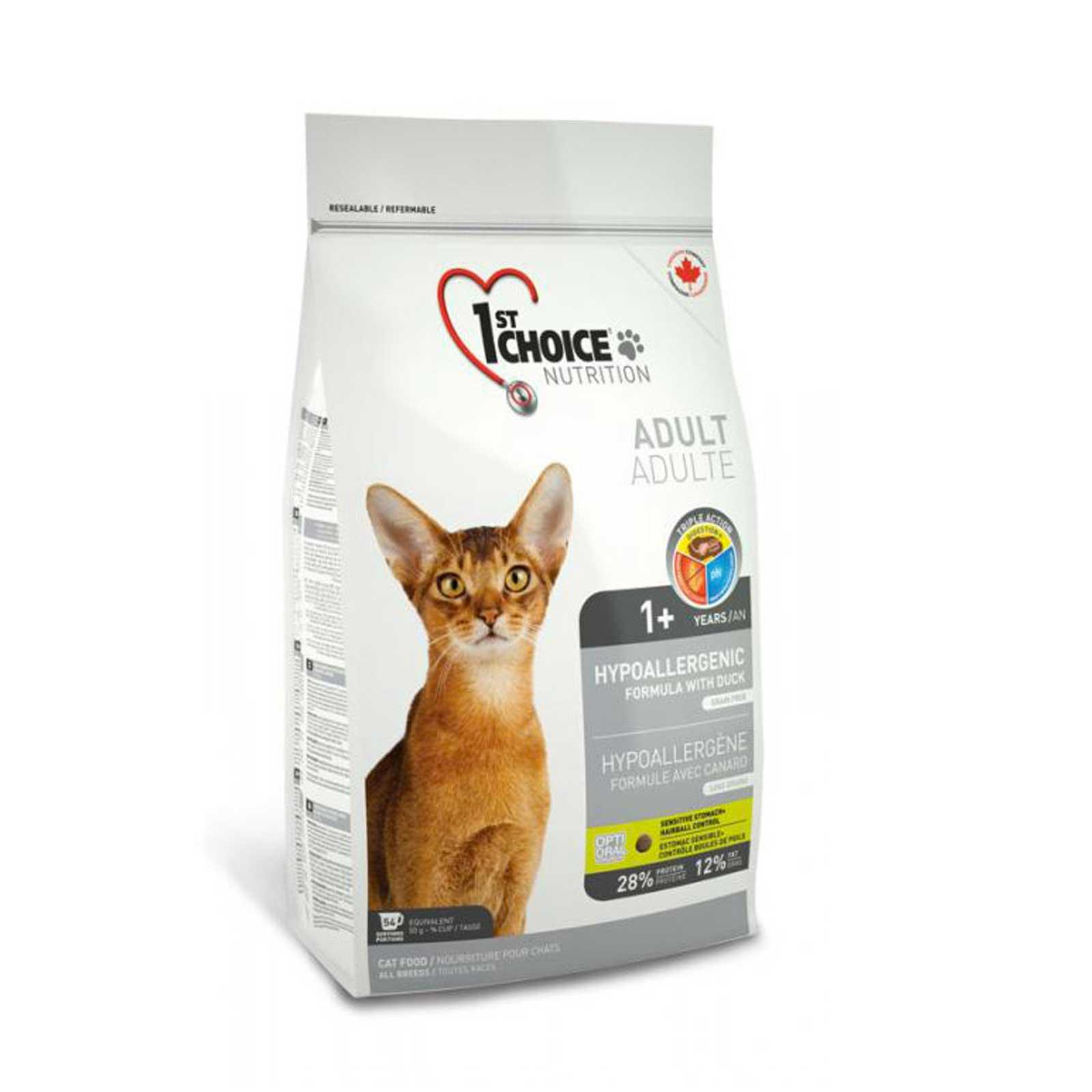 1st Choice Cat Hypoallergenic 2,72 kg. - Crocchette per gatti adulti, formula ipoallergenica senza cereali