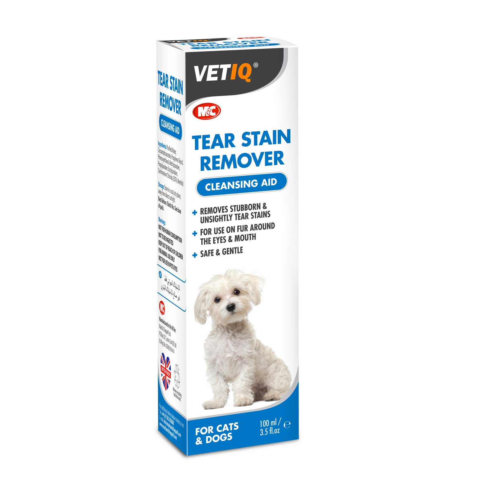 MarkChappel VetIQ Tear Stain Remover - 100 ml