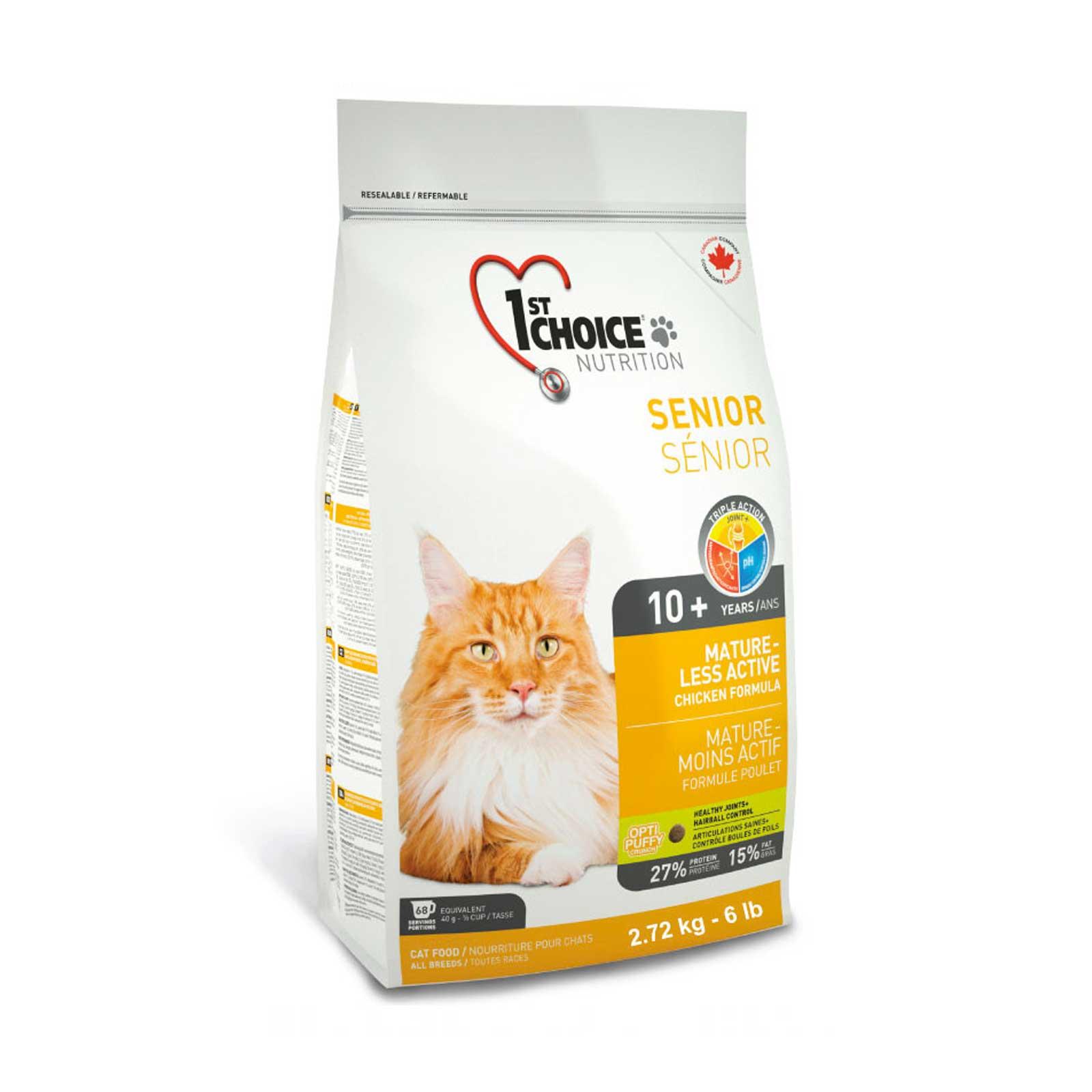 1st Choice Cat Senior 2,72 kg. - Crocchette per gatti anziani o poco attivi